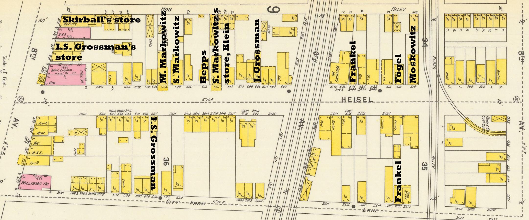 1894 map: Heisel street